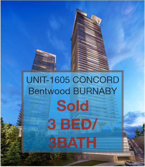 UNIT 1605- CONCORD BRENTWOOD   BURNABY    PRE-SALE