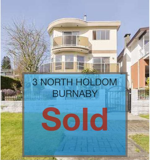 3 NORTH HOLDOM BURNABY B.C  DETACHED HOME