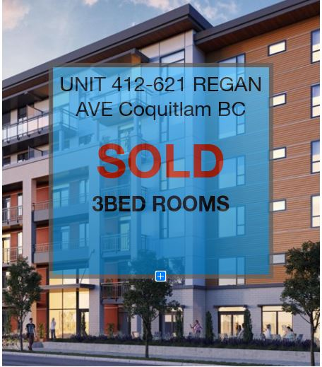 UNIT# 412-621 REGAN AVE COQUITLAM B.C.        PRE-SALE