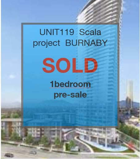 UNIT 119 IN ESCALA – BURNABY BC     PRE-SALE